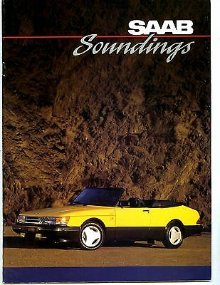 1991 2nd Issue Saab Soundings Factory Magazine Brochure my6349