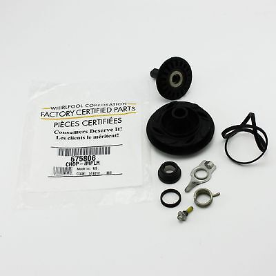 675806 Whirlpool Dishwasher Pump Impeller and Seal Kit