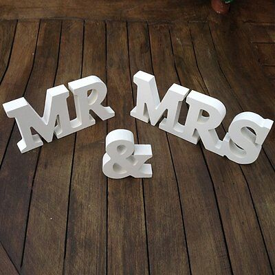 Mr & Mrs Wooden Letters Wedding Decoration by OliaDesign (1015) NEW