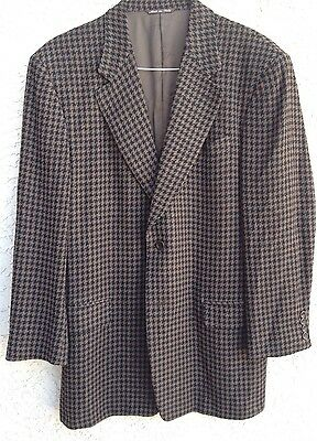 Canali proposta Houndstooth Sport Coat Jacket Blazer 85 Wool 15 Nylon 42 R Italy