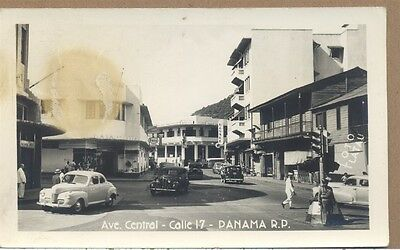 c1940 RPPC Ave. Central Calle 17 Panama RP PC Photo