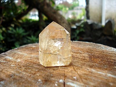 Natural Citrine Quartz with Black Tourmaline Needles-Rare Combination!