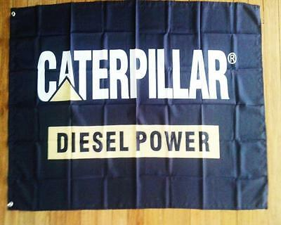 CATERPILLAR FLAG 3 x 5ft - 90cm x 150cm BAR FLAGS WITH GROMMETS AND SEALED NEW
