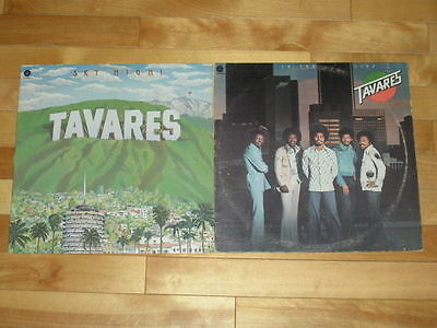 TAVARES 2 LP LOT VINYL ALBUMS COLLECTION Records Sky High & In The City