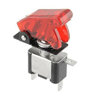 Protective Racing Car Vehicle ON/OFF Red LED Rocker Toggle Switch Control Cover