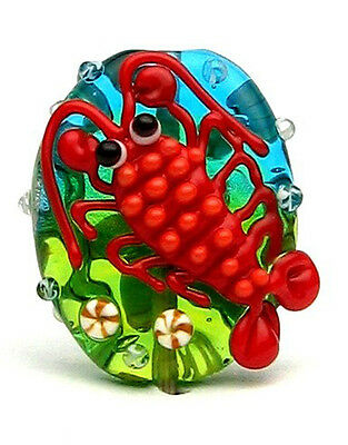 Made to order Margo lampwork beads Lobster