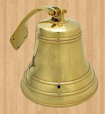 """Antique Brass Ships Bell Nautical heavy 5"""" Dia - loud and Clear Church Bell"""