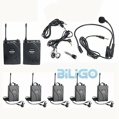 Takstar UHF-938 Wireless Tour Guide/ Translation System 1Transmitter 6 Receivers