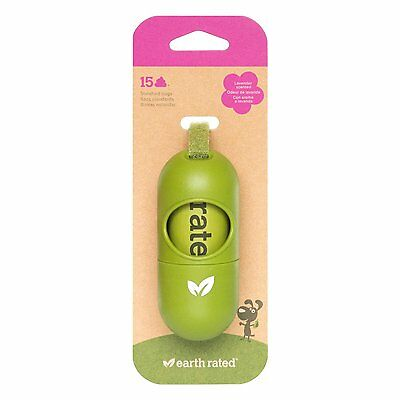 Earth Rated Green Dispenser with Dog (DISPGREEN) [1 Dispenser,15 bags] BRAND NEW