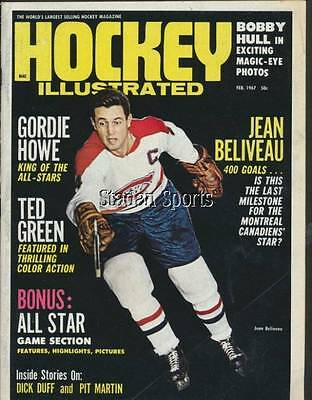 Hockey Illustrated   Feb/67 (#1)   With Jean Beliveau Cover!
