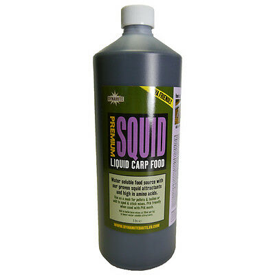 Dynamite Baits NEW Carp Fishing Liquid Carp Food 1ltr Premium Squid