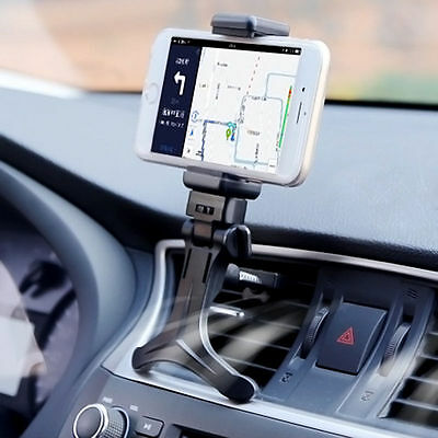 Black Car Air Vent Mount Cradle Holder Stand for Cell Smart Phone GPS Universal
