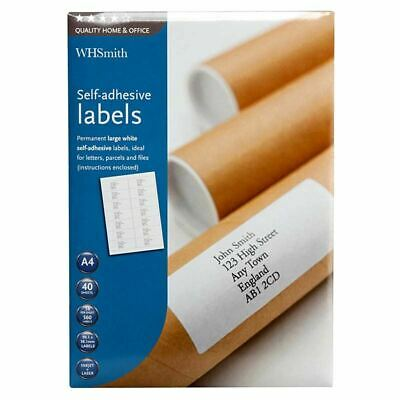 WHSmith Large A4 Self-Adhesive Labels White For Inkjet Printers Pack Of 560