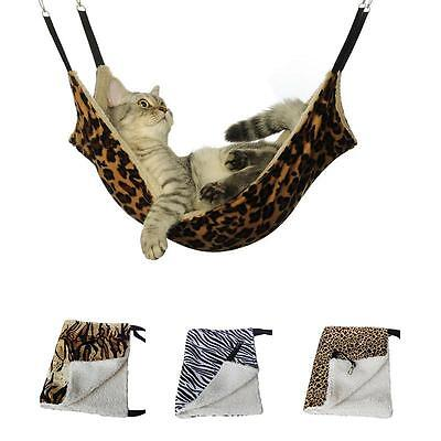 Sundry Pet Cat Hammock Leopard Fur Bed Animal Hanging Dog Cage Comforter Ferret
