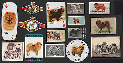 15 Chow Chow Original Collectable Dog Cigarette Breed / Trade Cards And Bands