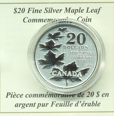 2011 $20 Canada Pure Silver Maple Leaf Coins