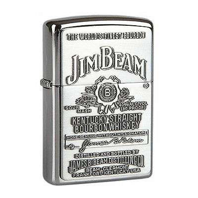 250JB Jim Beam Chrome Zippo Lighter