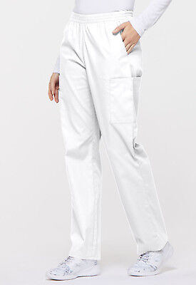 White Dickies Scrubs EDS Signature Natural Rise Pull On Pants 86106 WHWZ