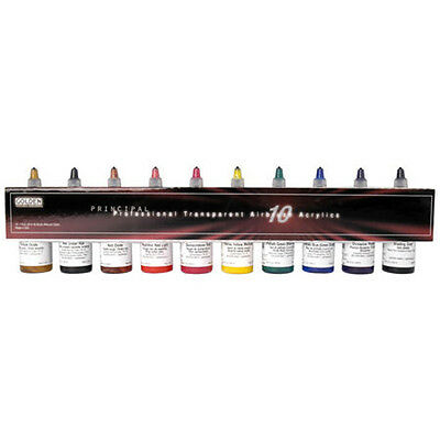 Golden Acrylic Airbrush Paint Set 10 x 30ml Transparent