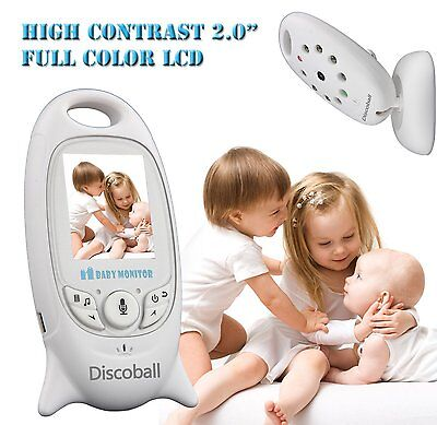 """2.0"""" Wireless Baby Monitor Audio Video Camera Night Vision Safety Viewer VB601"""