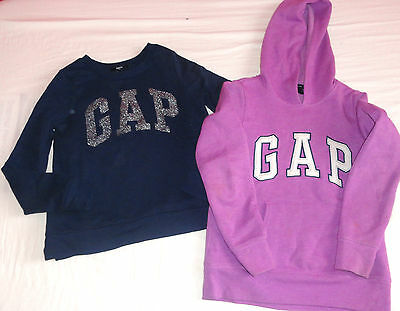 Gap  Sweatshirt Top  Girls Size 8-9 Years Lilac Navy Authentic