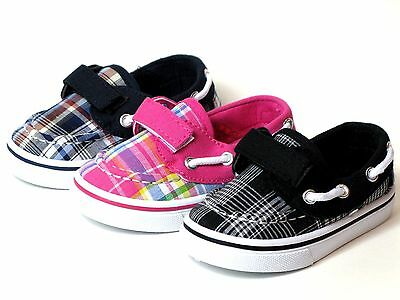 New Baby Toddler Boys Or Girls Casual Plaid Canvas Boat Shoes Loafers  Sneakers