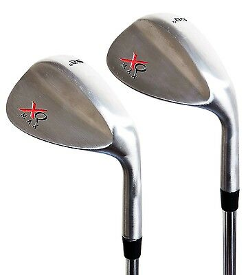 XQ Max Tour Golf Chrome Wedge Set 52 & 60 Degree steel shaft clubs 2 wedges set