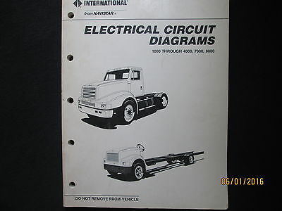 international navistar truck 1000-8000 electrical circuit diagrams manual  1989