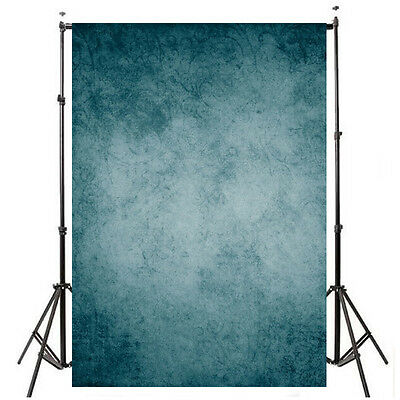 5x7ft Retro Dark Blue Backdrop Background Vinyl Cloth Photography Props