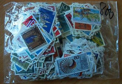 West Germany - 800 Mixed Stamps-Used Off Paper