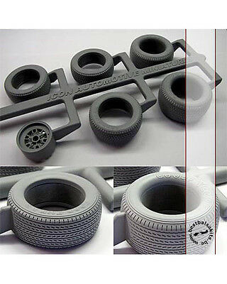 GY REPLACEMENT TIRE + SPARE SET for TRUMPETER 1/12 GT40 LE MANS 1966 WINNER