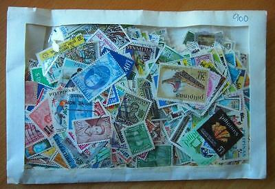 Philippines - 900 Mixed Stamps-Used Off Paper