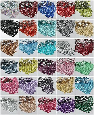 2000x 14 Facets Resin Rhinestone Gem Flat Back Crystal AB Beads 2,3,4,5,6mm