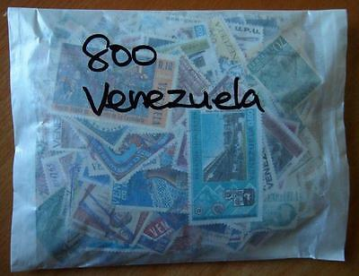 Venezuela - 800 Mixed Stamps-Used Off Paper