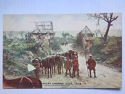 World War I Daily Mail Official Postcard After First Cavalry Charge July 1916