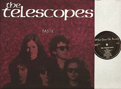 THE TELESCOPES taste GOES ON 32 A2/B2 indie/noise/space rock uk 1989 LP EX/EX