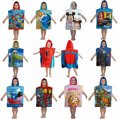 Disney & Kids Favourite TV Movie Character Poncho Towel Brand New Gift