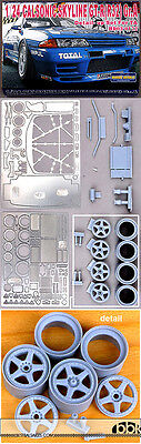 1/24 FULL DETAIL UP inc PE & RESIN PARTS CALSONIC SKYLINE GT-R Gr.A for TAMIYA