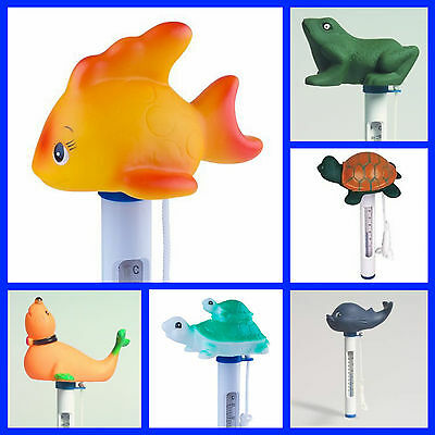Fun Character Turtle Goldfish Whale Floating Fish Pond Swimming Pool Thermometer