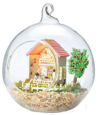 DIY Wooden Dollhouse Miniature Kit w/ LED and Voice control Forest house 2