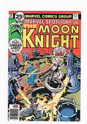 Marvel Spotlight # 29 Deadly Gambit of Conquer-Lord! Moon Knight grade 9.0 hot !