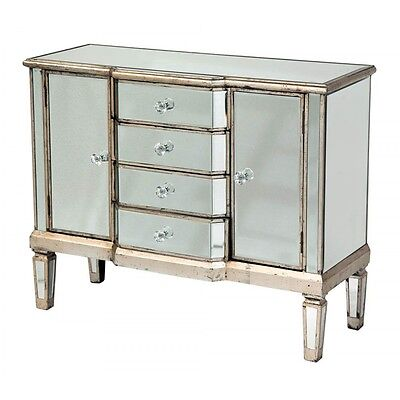 Old Venetian Mirrored Chest 4 Draw Chest of Drawers RRP £400 SALE