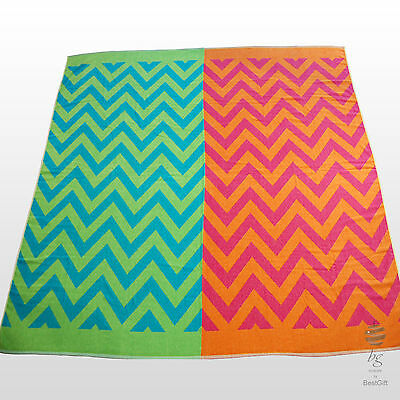 Extra Large Striped Multi Color Beach Towel Bath Sheet Holiday Towels