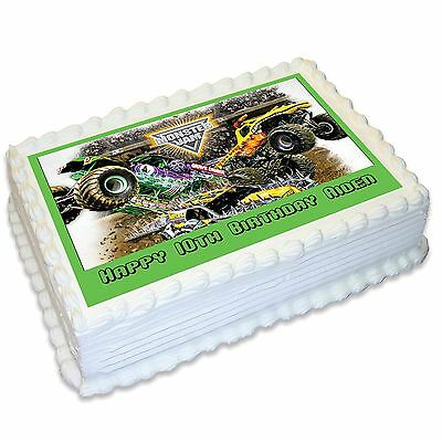 Monster Jam Personalised A4 Edible Cake Topper