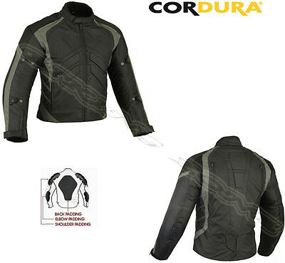 Grey Speed Icon Mens Winter Ce Armour Motorbike / Motorcycle Textile Jacket Set