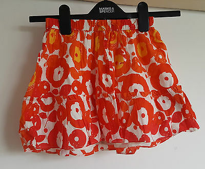 Gap Girls 6-7 years Multi Colour  Orange Pattern Skirt Lined