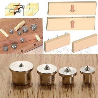 6mm 8mm 10mm 12mm Dowel Holes Drill Centre Point Pin Wood Joint Alignment Tools