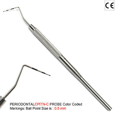 Professional Screening Probes Color-Coded CPITN Periodontal Exam Examination New