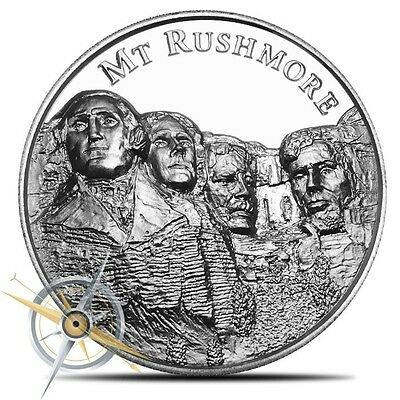 2 oz Ultra High Relief Silver Mt Rushmore Round ~ American Landmarks ~ 4th
