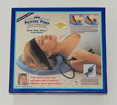 Posture Pump 1000 Cervical Disc Hydrator Head Back & Neck Pain Exerciser R9932